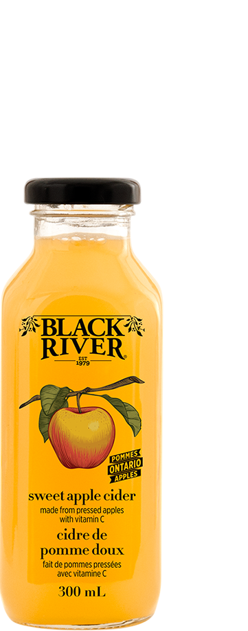 Black River cold pressed sweet apple cider juice made from Ontario apples.